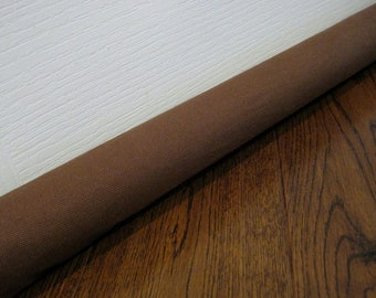 Brown canvas draft guard // durable draft stopper