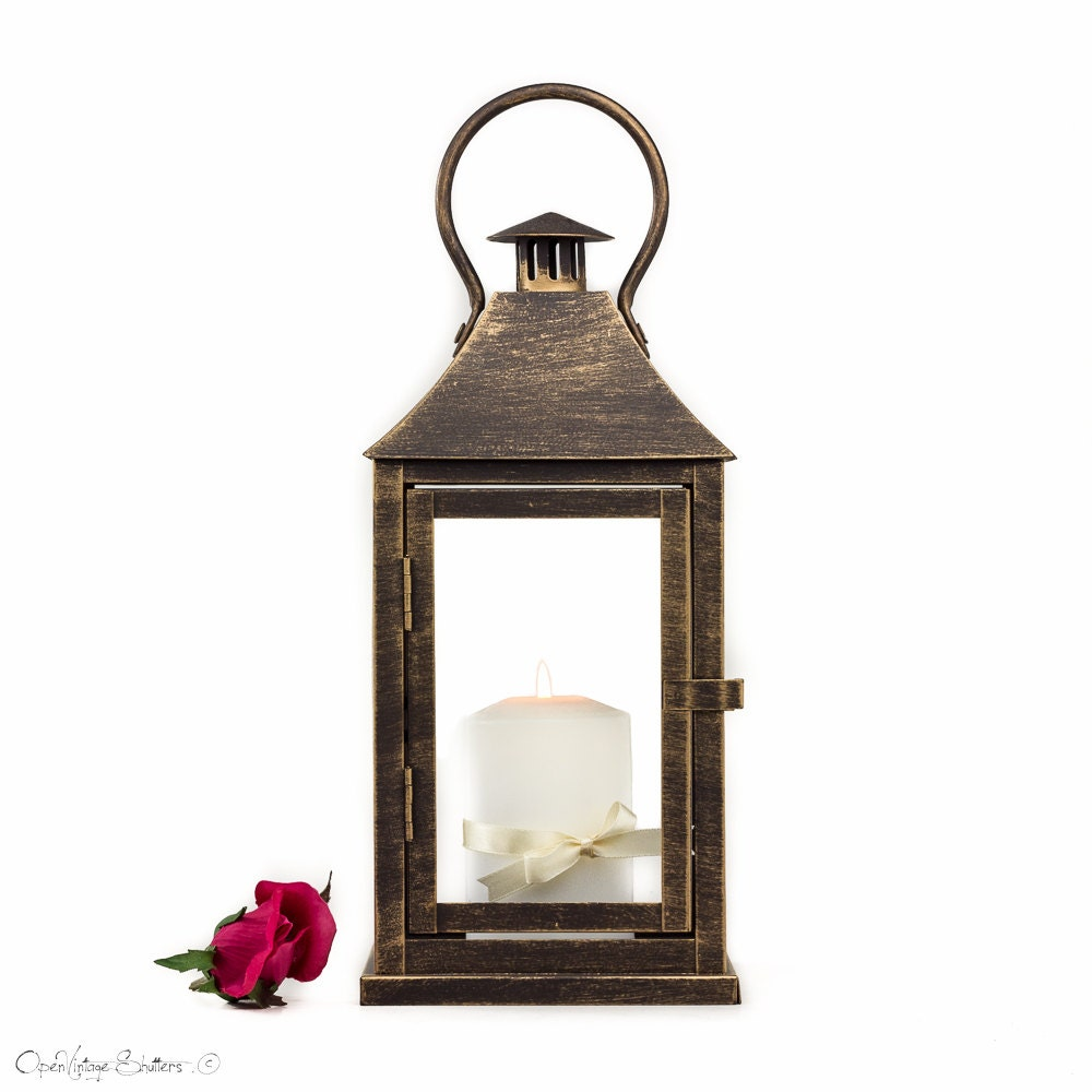 Rose Gold Lantern Centerpiece, Rose Gold Wedding Decor, Pink Gold ...