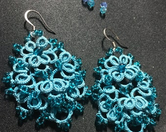 "Tatted earrings ""Lucy"" - tatting pattern"
