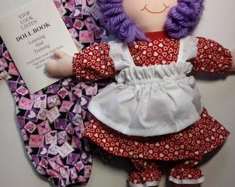 Hand made 15 inch rag doll