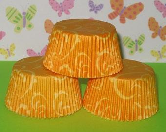 Yellow Swirlies Cupcake Liners  (Qty 40)