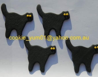 12 edible CATS halloween FRIDAY 13TH Lucky scary cake cupcake toppers decorations party wedding anniversary birthday beautiful christening
