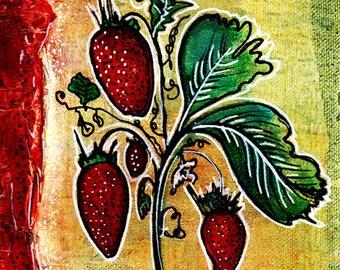 Original Painting - Ma belle fraise