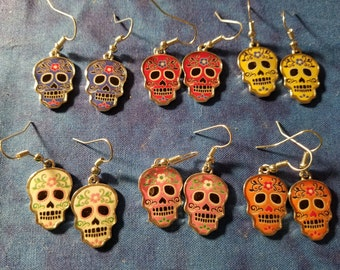 Day of the Dead Earrings - Choose Your Favorite