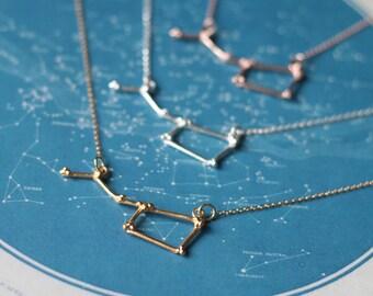 Gold Ursa Major Constellation Necklace - Big Dipper pendant - Celestial jewellery