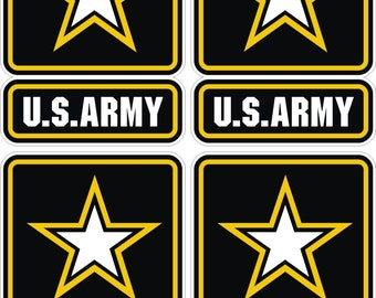 4x US Army logo Military Stickers for Laptop Book Fridge Guitar Motorcycle  Helmet ToolBox Door PC