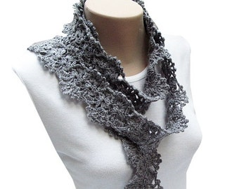 PDF Tutorial Crochet Lacy Scarf Pattern
