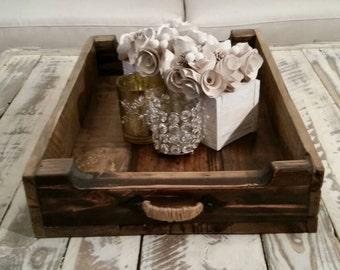 Original L'atelier D'Alfama handmade reclaimed/Rustic wood tray