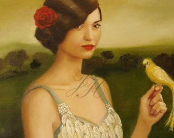 Leona And The Yellow Bird- Limited Edition Print