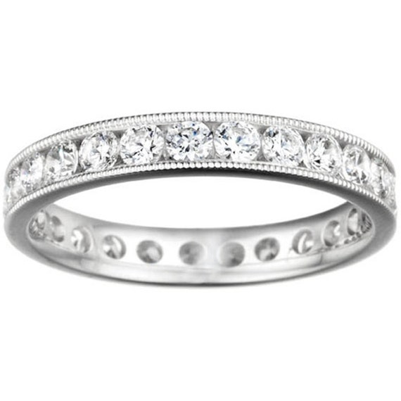 diamond overview carat ring set band eternity channel bands