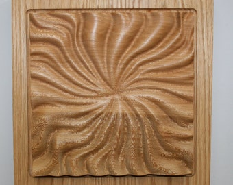 Wooden Wall Hanging - Radial Motion #9