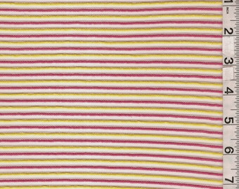 Yellow/Pink Stripe Burnout, Fabric By The Yard