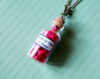 Hearts Bottle Necklace