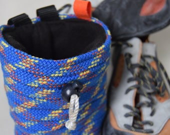 Raven chalk bag: made from recycled climbing rope