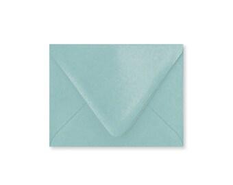 Aqua bleu piscine A2 enveloppes, 5.75x4.375, enveloppes, papier Source Pointed Rabat enveloppes, vendu par lot de 10