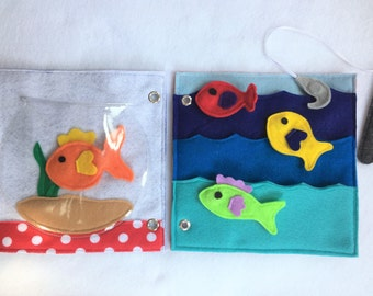 Gone Fishing - Handmade Quiet Book Activity Pages to Create or Expand Your Custom Quiet Book