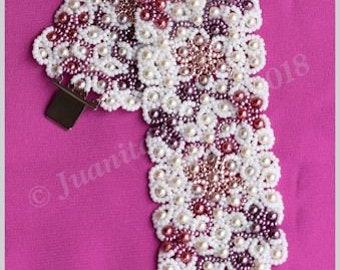 Bracelet Tutorial - Mantilla Lace - Netting Stitch