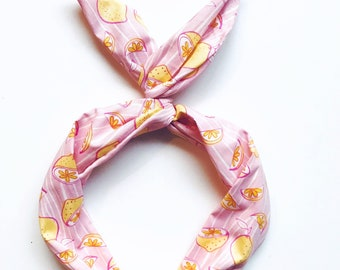 Lemon Print Wire Headband