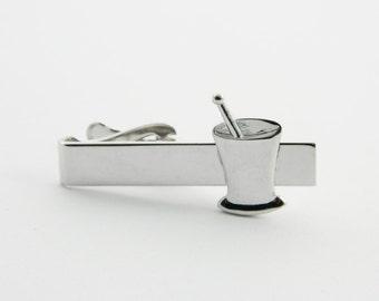Silver Cocktail Hour Tie Clip