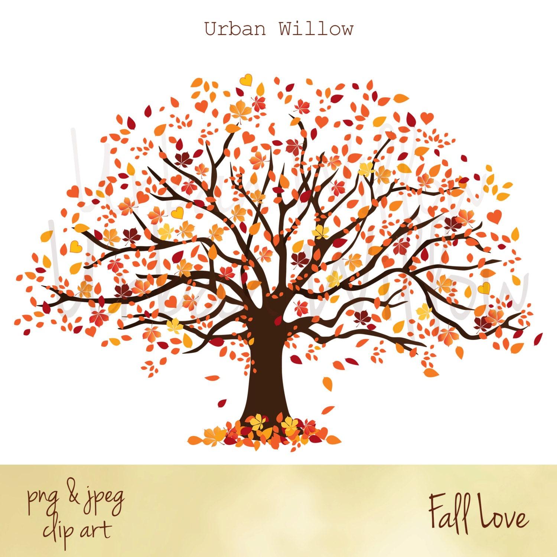 clip art fall tree autumn tree graphic tree with orange yellow red rh etsystudio com clipart fall leaves clipart fall leaves