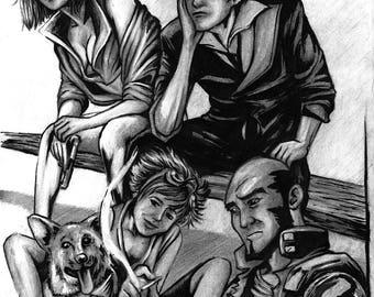 Cowboy Bebop realistic hand drawing
