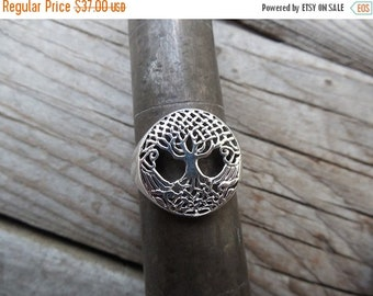 ON SALE Celtic tree of life ring handmade in sterling silver