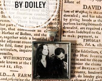 Morticia and Gomez Addams pendant