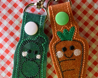 Peas and Carrots Best Friends/ Perfect Pairs Keychains (SET OF 2)