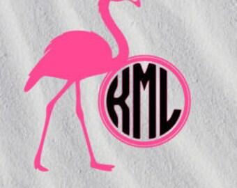 Flamingo monogram