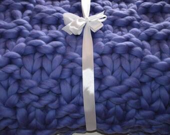 Chunky merino blanket, Bulky blanket, Knitted blanket, Handmade blanket, Chunky knit blanket,Merino blanket, FREE INTERNATIONAL SHIPPING
