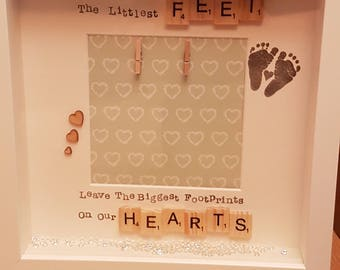 New baby/ scan picture box frame perfect baby showergift