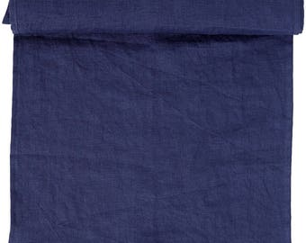 Linen tablecloth washed 6 colors, indigo, gray, charcoal, white, beige, pink, 140 CM wide or 280 CM L