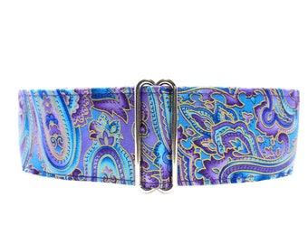 Purple Martingale Collar, Paisley Martingale Collar, 2 Inch Dog Collar, Paisley Dog Collar, Made in Canada, Purple Dog Collar