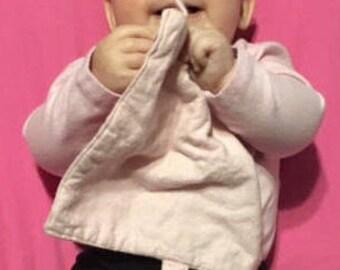 Organic Heart Lovey: 100% GOTS Certified Organic Baby Clutching Lovey Heart Blanket