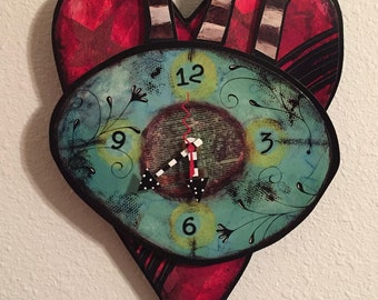 Arrow Heart clock
