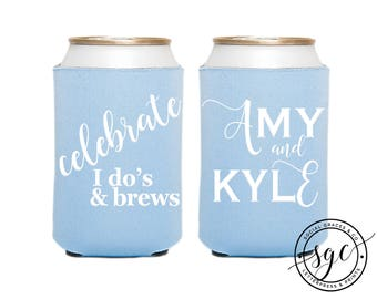 Custom Wedding Can Coolers | Personalized Can Coolies | Monogram Beer Sleeves | Can Insulator | Gift Can Coolers | Made to Order