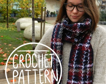 The Crocheted Plaid Scarf - Crochet Pattern