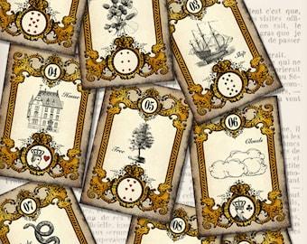 Printable Tarot Cards Mlle Lenormand full set complete diy paper crafting scrapbook instant download digital collage sheet - VDPCVI1388