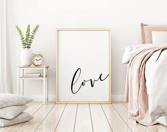 Love Print - Love Art - Love Wall Decor - Bedroom Print - Bedroom Art - Bedroom Wall Art - Valentine's Print - Valentine's Art