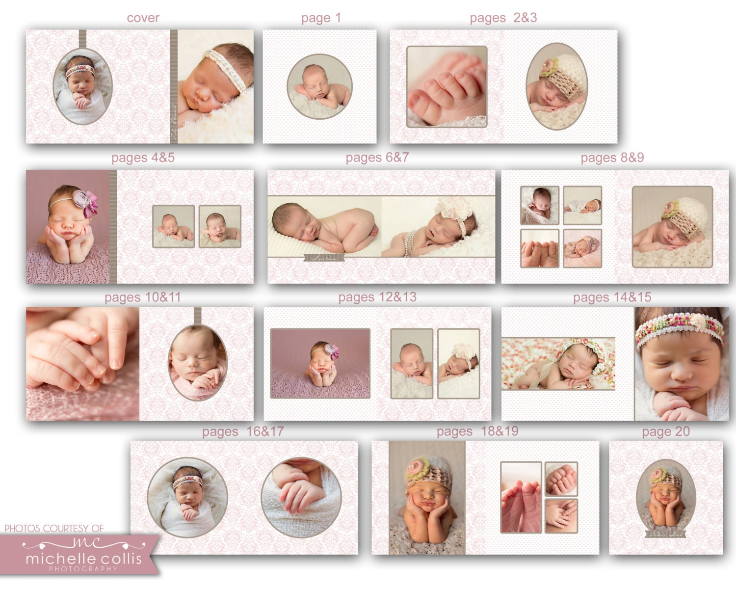 10x10 Baby Album template - Lily 0719 FA from rememberwhendesign on ...