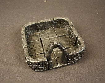 Small Dungeon Magnetized Tile Set (Primed Black) with Round Corners