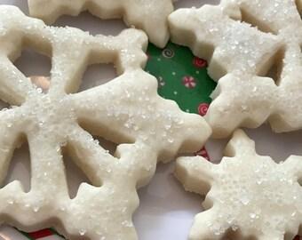 One Dozen Snowflake Cookies Sugar Cookies Party Dessert Winter Wonderland Winter Wedding Birthday Party Winter Theme Party CatDKnits
