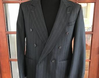 Amazing Vintage 1990's Fioravanti Pinstripe Power Broker Custom Suit