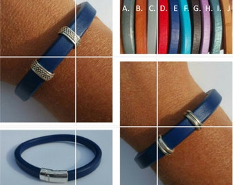 Men's regaliz leather bracelet.