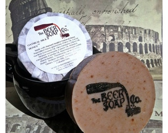 Beer Soap Gifts For Men - Oatmeal Milk and Honey Stout Beer Soap- Made with Samuel Smiths Oatmeal Stout