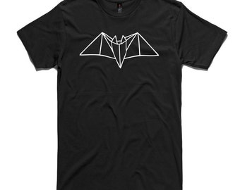 Bat T-Shirt by RockPaperHeart in black or white origami