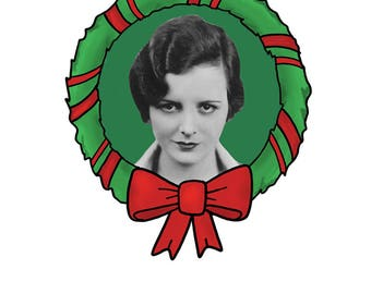 Have yourself a Mary little Christmas // set of 5 Mary Astor christmas cards
