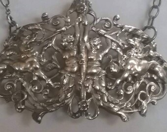 Victorian Statement Necklace,  Repurposed Jewelry