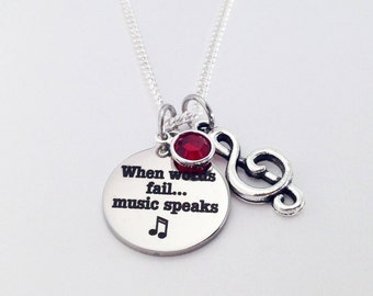 Music Gift, Music Lover, Music Teacher Gift, Music, Music Note, Music Lover Gift, Gifts for Musician, Choir Gifts, Music Necklace, Choir