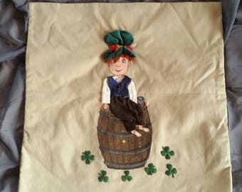 Decorative pillow - unique - Irish